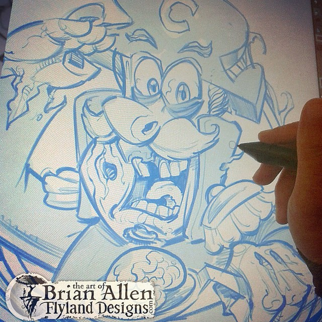 The sketch of my Captain Crunch Zombie