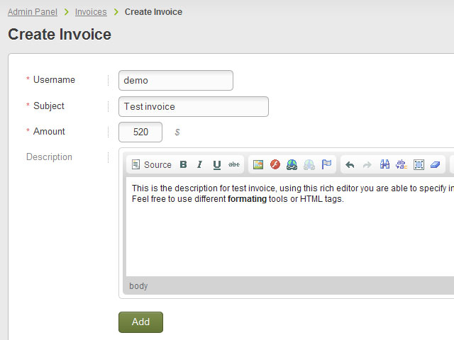Invoices  Classifieds Software Plugins Classifieds Script Plugins - generate invoices