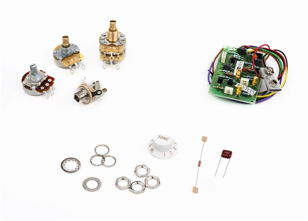 Stratocaster® Mid Boost Kit Parts