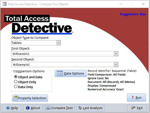 Microsoft Access Compare Database and Object Differences Tool with - microsoft office versions comparison chart