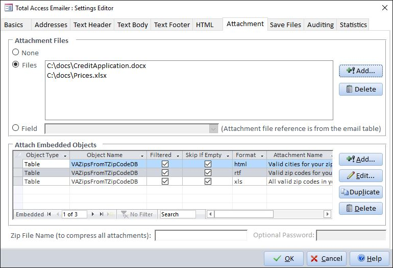 Attaching Files to Emails Generated from Total Access Emailer - valid emails