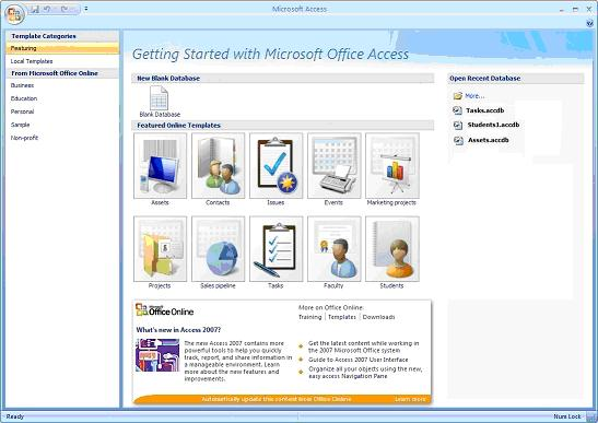 Discover the power of Microsoft Access Template Databases - microsoft tamplet
