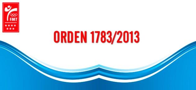 Orden 1783-2013