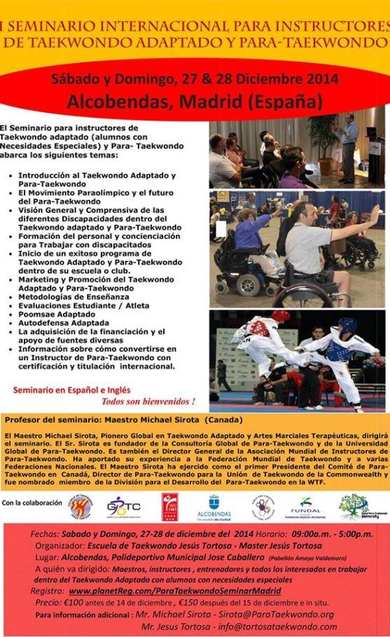 I  seminario parataekwondo en espanol