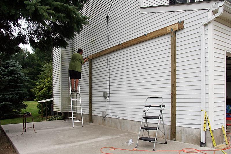 Small DIY carport u2026 Pinteresu2026 - construire son garage en bois