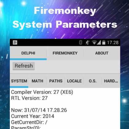 Delphi XE6 Firemonkey System Parameters