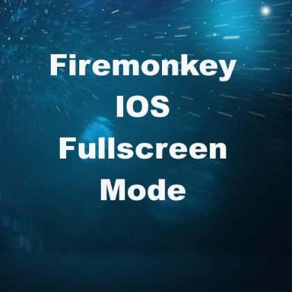 Delphi XE7 Firemonkey IOS Full Screen Mode Interface