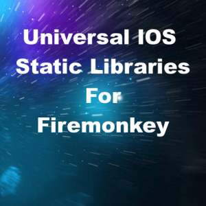 Delphi XE8 Firemonkey Universal Static Libraries For IOS