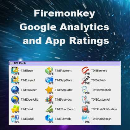 Delphi XE8 Firemonkey Google Analytics And App Ratings Android IOS