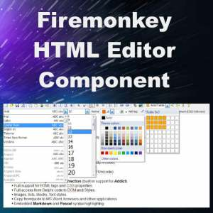 Delphi XE8 Firemonkey HTML Editor Component