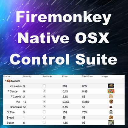 Delphi XE8 Firemonkey Mac OSX Native Controls