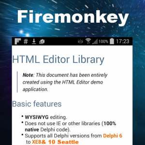 Delphi 10 Seattle HTML Editor Component Suite Android IOS