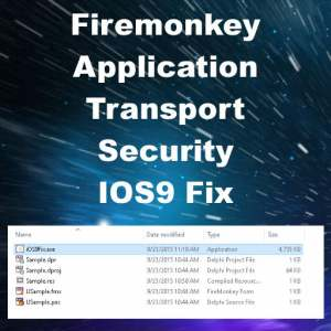Delphi 10 Seattle Application Transport Security Fix For IOS9