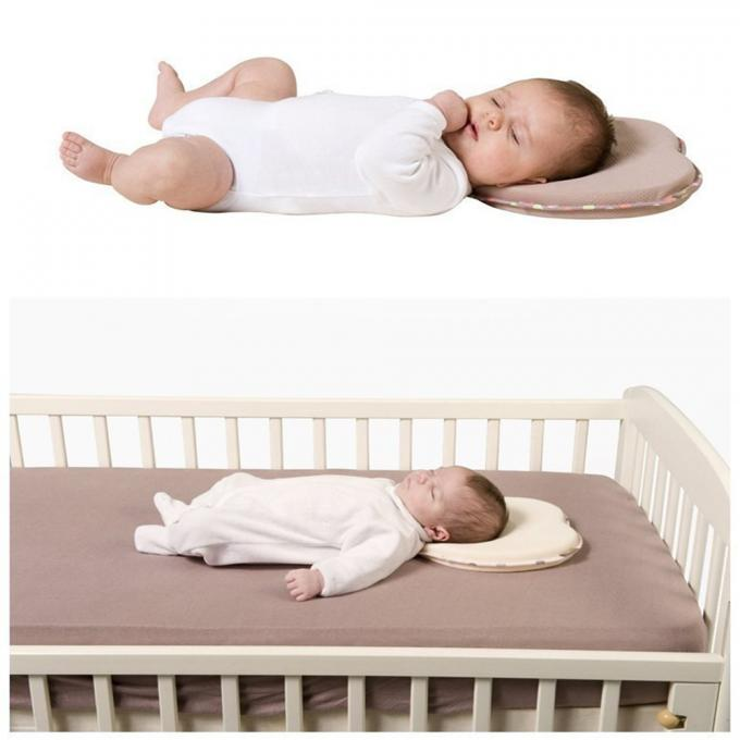 Newborn Infant Memory Foam Pillow With Bamboo Cover Case