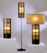 Manhattan Accent Lamp, Floor Lamp, and Table Lamp