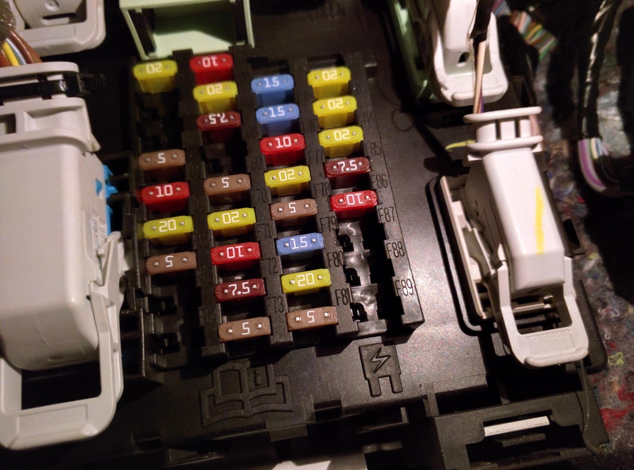 2012 ford escape sync fuse box