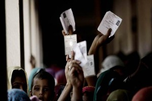 Zero voting was recorded at Gajadi village in Morbi district of Gujarat today as the residents, fed up with water shortage, boycotted polling. (IE)