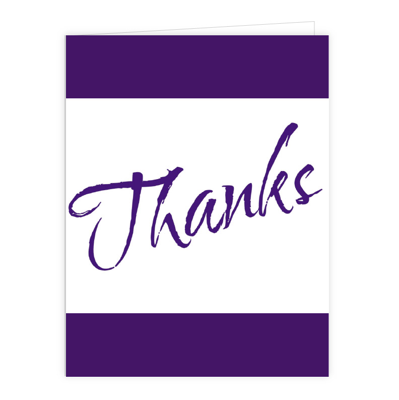 Note Cards and Thank You Cards - purple note cards