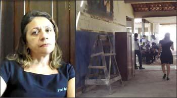 Piersilia-Pereira-vice-diretora-do-Frei-Ambrósio-diz-que-alunos-e-professores-dividem-espaços-com-operários-de-construtoras
