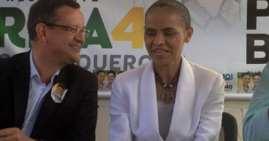 Marina Silva e seu vice, Beto Albuquerque, concederam entrevista coletiva em Florianópolis (Foto: Géssica Valentini / G1)