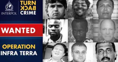 Fotos de criminosos ambientais procurados pela Interpol