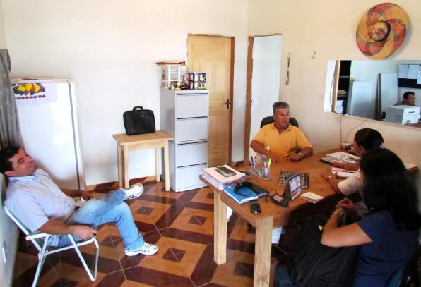 A equipe da Seicom durante a visita técnica às mineradoras de calcário agrícola