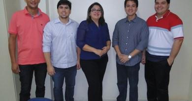 Juíza Dr(a) Elaine Neves de Oliveira e seus assessores na Comarca de Novo Progresso.