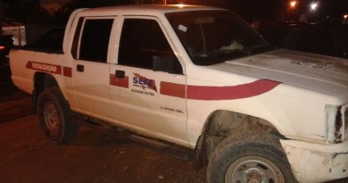 Camionete apreendida com Larápio Wellace