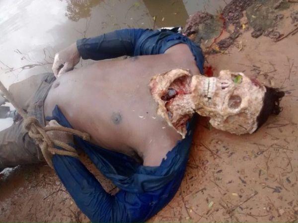 Cuidado Imagens Fortes- Homem cai em rio e tem a cabeça devorada por piranhas