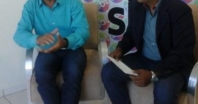 Prefeito Osvaldo Romanholi (PR) em entrevista no SBT com João Barros