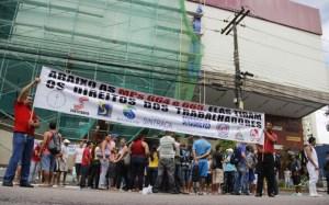 """A categoria afiram que irá paralizar até receber uma proposta """"razoável"""" de reajuste salarial. (Foto:Cézar Magalhães/DOL)"""