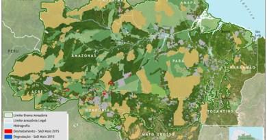 Fonseca, A., Souza Jr., C., & Veríssimo, A. 2015. Boletim do desmatamento da Amazônia Legal (maio de 2015) SAD (p. 10). Belém: Imazon.