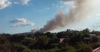 Incêndio em pastagem- Foto Jornal Folha do Progresso
