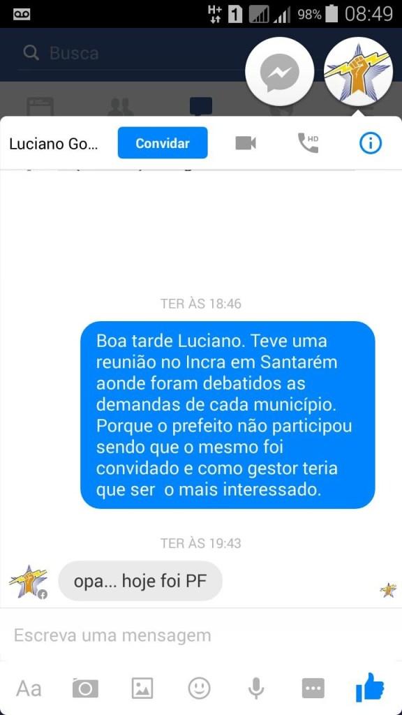 Resposta ao Jornal Folha do Progresso pelo Secretario de Administrarão Luciano Goffi.