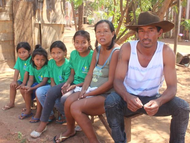 Casal tem outras quatro meninas (Foto: Gabriela Pavão/ G1 MS/ Arquivo)