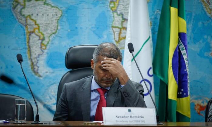 Romário afirmou que, no momento oportuno, Del Nero e Teixeira serão convidados a falar na CPI.
