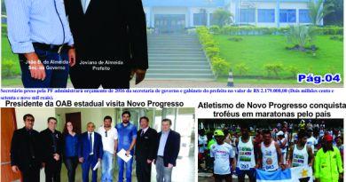 CAPA EDIÇÃO Nº190 DO JORNAL FOLHA DO PROGRESSO