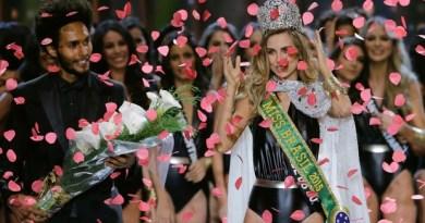 Gaúcha Marthina Brandt é eleita Miss Brasil 2015 (Foto: Nelson Antoine/ Estadão Conteúdo)
