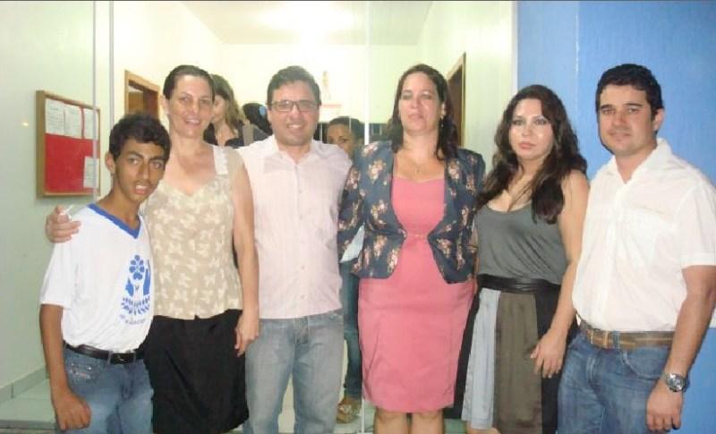 Prefeito em exercício Ricardo Faccin, o Delegado Caio Ribeiro, a Vereadora Sara Royer e o Presidente das APAE Pará o Dr. Emanuel Almeida.