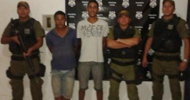Policias Militares que efetivaram a prisão.