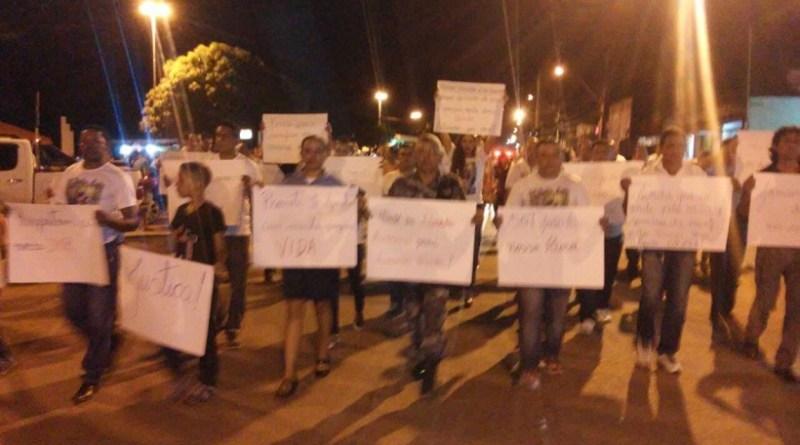 Em Itaituba – População faz manifesto e pede justiça pela morte do Sargento João Luiz