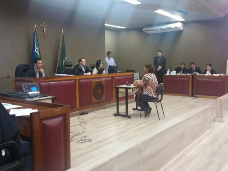 Julgamento ouviu modelo e mais de dez testemunhas no Fórum de Macapá (Foto: Jéssica Alves/G1)