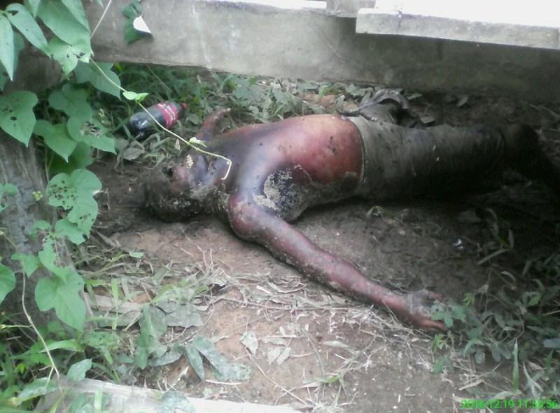 Corpo encontrado (Foto Divulgação Policia Militar)