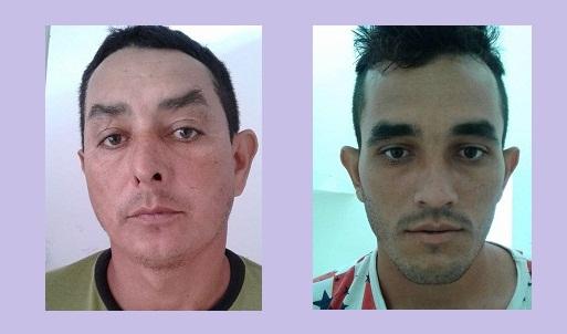 (foto: Jornal o Jamanxim / Irmãos Flores presos acusados de matarem Joceano Paulo Murari.)