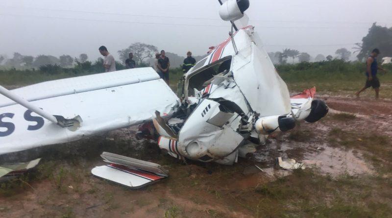 Em Itaituba, avião cai após tentativa de pouso mal sucedida