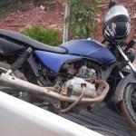 Motocicleta usada no crime