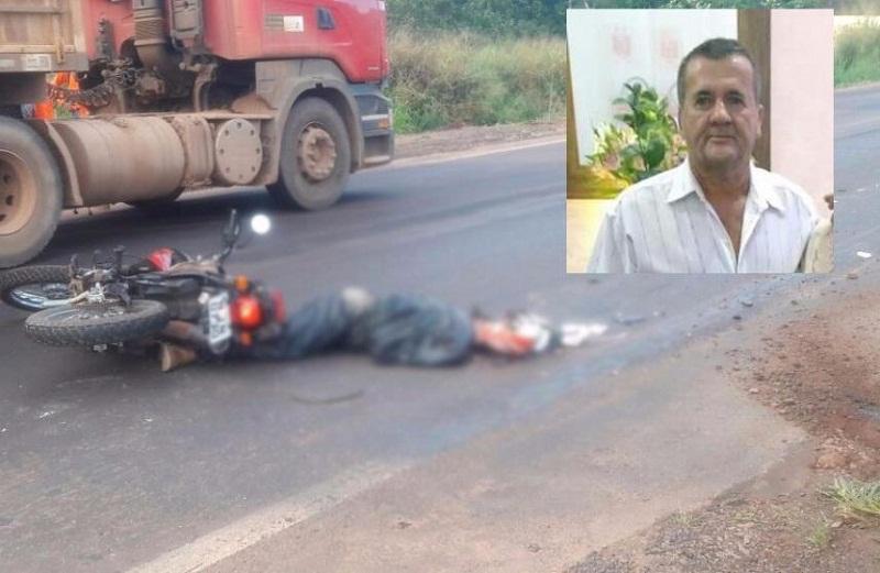 Motociclista que morreu em acidente na BR-163, em Itaúba era de Colíder