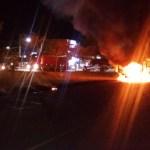Carreta Bi-trem pega fogo e fica totalmente destruída em Novo Progresso