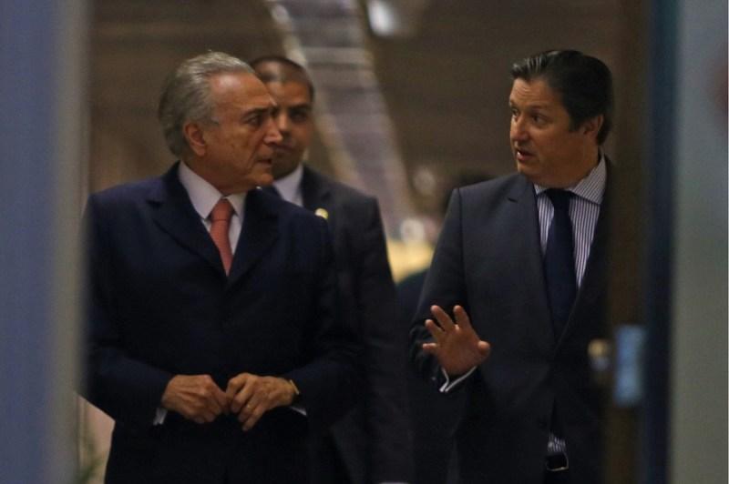 Michel Temer e Rodrigo Rocha Loures. Foto: Dida Sampaio/Estadão