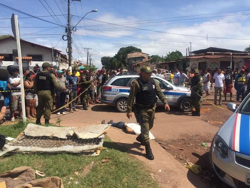 Agente penitenciário é morto a tiros no bairro Livramento em Santarém (Foto: Dominique Cavaleiro/G1)